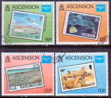 ASCENSION 1986 SG #402-06 Compl.set+m/s Used Ameripex '86 - Ascension