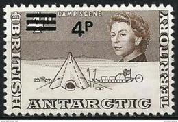 British Antarctic - 1971 Research Camp 4p/4d  MNH **   Sc 31 - Unused Stamps