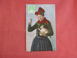 Female With Cat--   Ref 3137 - Europe