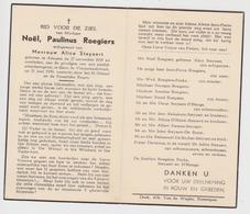 Doodsprentje Noël-Paulinus Roegiers. °Adegem, +Gent. Echtgen. Steyaert. - Obituary Notices