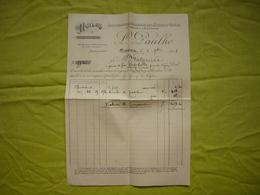 Belle Facture 1918 Cette L. Paulhe Huiles D'olives - France