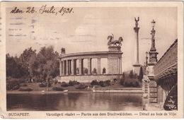 Budapest - Városligeti Részlet - Détail Au Bois De Ville - (1921) - Hongarije