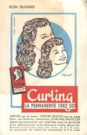 Buvard Ancien CURLINA PERMANENTE - BOUCLES FEMMES - Parfums & Beauté