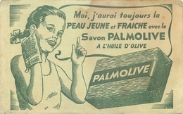 Buvard Ancien SAVON PALMOLIVE - HUILE D OLIVE - Perfume & Beauty
