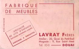 Buvard Ancien FABRIQUE DE MEUBLES SPECIALITES DE LITS ENFANTS - LAVRAY FRERES - DOUAI - Enfants