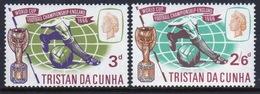 Tristan Da Cunha 1966 Set Of Stamps To Celebrate World Cup Football. - Tristan Da Cunha