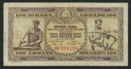 Yougoslavie . Jugoslavija . 100 Dinara 1946 . - Yougoslavie