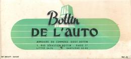 Buvard Ancien ANNUAIRE DU COMMERCE - BOTTIN DE L AUTO - Automotive