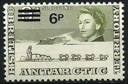 British Antarctic  - 1971 Sledging 6p/9d MNH **   Sc 33 - Unused Stamps