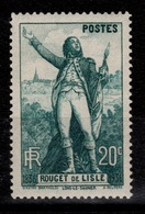YV 314 N* Rouget De L'Isle Cote 7 Eur - France