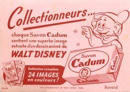 Buvard Ancien SAVON CADUM - IMAGE WALT DISNEY - Parfums & Beauté