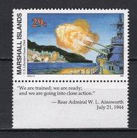 MARSHALL ISLANDS -  1994 History Of The Second World War - U.S. Liberation Of Guam, 1944  M670 - Marshall