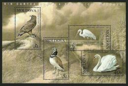 MOLDOVA 2003 BIRDS EAGLE SWAN HERON M/SHEET MNH - Moldova
