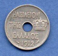Grece - 5 Lepta 1912  -  Km #  62  -état  TTB - Grèce