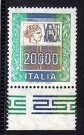 ITALIA REPUBBLICA ITALY REPUBLIC 1978 1987 ALTI VALORI HIGHT VALUE LIRE 20000 MNH - 6. 1946-.. Repubblica