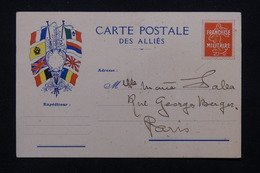 FRANCE - Carte FM Pour Paris En 1917 -  L 21532 - Marcophilie (Lettres)