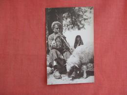 RPPC Shepherds Organ --- Boy With Goat   Ref 3137 - Asie