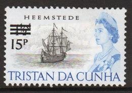 Tristan Da Cunha 1971 Single 15p Definitive Stamp From The 65 Ship Series Overprinted For Decimal. - Tristan Da Cunha