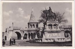 Budapest - Halászbástya A Szt. István Szoborral -  (1937) - Hongarije