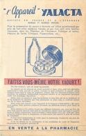 Buvard Ancien APPAREIL YALACTA - VENTE EN PHARMACIE - FABRICATION DE YAOURT - Produits Laitiers