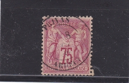 FRANCE TYPE SAGE  N° 81  75 CENTIMES ROSE OBLITERE - 1876-1878 Sage (Type I)