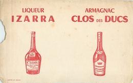 Buvard Ancien LIQUEUR IZARRA ET ARMAGNAC CLOS DES DUCS - Liqueur & Bière