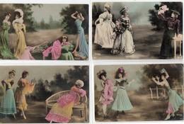 Lot De 7 Cpa Fantaisie Paysage Photo Montage Reutlinger  Série 1297 Actrices Femme - Spectacle