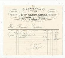 Facture , épicerie ,Mllmes GAYET-SOEURS , 6 Rue De La Place D'Armes, POITIERS ,  1856 , Frais Fr 1.55 E - France