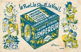 Buvard Ancien SAVON CITRON LEMPEREUR - ESCAUDAIN - Parfums & Beauté