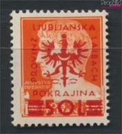 Laibach (Dt.Bes.2.WK.) 19b Geprüft, Körniger Gummi Postfrisch 1944 Aufdruckausgabe (9265122 - Besetzungen 1938-45