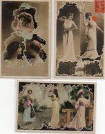 Lot De 5 Cpa Fantaisie Paysage Photo Montage Reutlinger   Actrices Dont Robinne, Cavaliéri, Tolédo, De Vère. Femme - Spectacle