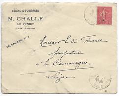 Enveloppe Et Courrier - M. Challe Le Pontet Près D'Avignon - Vaucluse - Landbouw