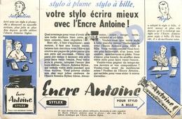 Buvard Ancien ENCRE ANTOINE STYLO BILLE STYLEX - Papeterie