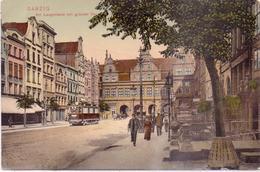 Alte AK  DANZIG / DR / POLEN  - Am Langemarkt Mit Grünem Tor - Gelaufen 1911 - Danzig