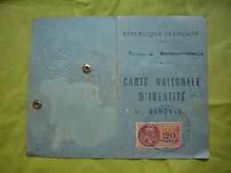 Cate D'identité 1957Aubertin Maria épouse Vautrin à Vandeleville - Vieux Papiers