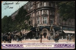 Le Théâtre Du Vaudeville & Le Boulevard Des Italiens - Attelage - Animée - 1904 - France
