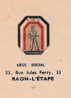 Courrier (x 2) GMA Groupe Mobile Alsace / FFI Viombois 88 / Demande Citation Résistance SAUTER Raon L'Etape 88 - 1939-45
