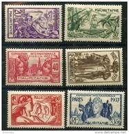 Mauritanie (1937) N 66 à 71 * (charniere) - Mauritanie (1906-1944)
