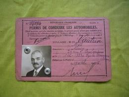 Permis De Conduire 1945 Appartenant à Noël Vautrin - Vieux Papiers
