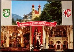 Ak Österreich - Wallfahrtskirche Frauenberg -   Kirche,church, Eglise - Wappen - Kirchen U. Kathedralen