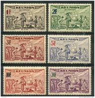 Reunion (1943) PA N 18 à 23 * (charniere) - Réunion (1852-1975)