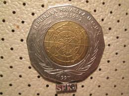 CROATIA 25 Kuna 1997 Bimetal Croatia In OUN # 4 - Croatia
