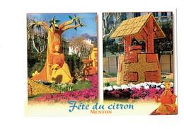 Cpm - MENTON - Fête Du Citron - ALICE AU PAYS DES MERVEILLES - Orange Citron Puits Arbre - Fairy Tales, Popular Stories & Legends