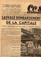 """Journal  """" CE  SOIR """" Grand Quotidien  D'information Indépendant - Sauvage Bombardement De La Capitale - 28 Aout 1944 - Autres"""