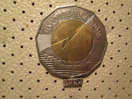 CROATIA 25 Kuna 1998 Bimetal First Expo Lisabon 1998 Ship Coin # 4 - Croatia