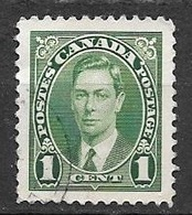 1937 King George VI, 1 Cent, Used - Used Stamps