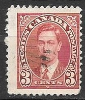 1937 King George VI, 3 Cents, Used - Used Stamps