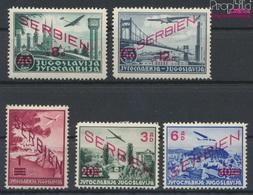 Serbien (Dt.Bes.2.WK.) 26-30 (kompl.Ausg.) Mit Falz 1941 Aufdruckausgabe (9265081 - Besetzungen 1938-45