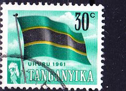 Tanganyika - Tag Der Unabhängigkeit Nationalflagge (Mi.Nr.: 102) 1961 - Gest. Used Obl. - Tanganyika (...-1932)