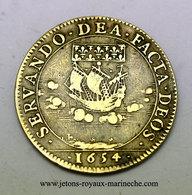 F. 5575.  Ile De France Noblesse. 1654. Antoine Le Febvre Ou Lefébure. Prevot. Laiton 27 Mm, 6 Gr. - Royaux / De Noblesse